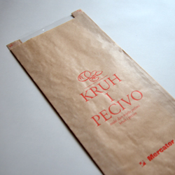 Paper bags with perforated or non-perforated window