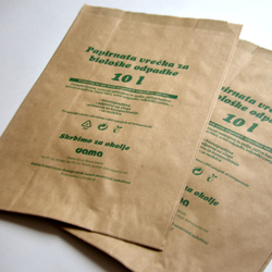 Biodegrading paper bags